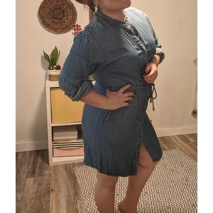 Medium A New Day Denim Dress with elastic waist